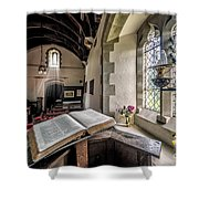 Church Chronicles Shower Curtain by Adrian Evans