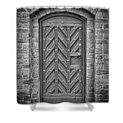 Church Door 02 Shower Curtain by Antony McAulay