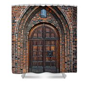 Church Door Shower Curtain by Antony McAulay