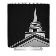 Church Steeple Stowe Vermont Shower Curtain by Edward Fielding