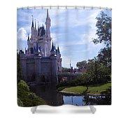Cinderella Castle Shower Curtain by Roger Wedegis