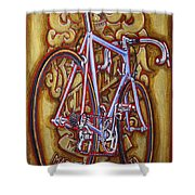 Cinelli Laser bicycle Shower Curtain by Mark Howard Jones