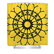 Circle 2 Icon Shower Curtain by Thisisnotme