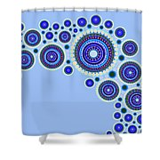 Circle Motif 117 Shower Curtain by John F Metcalf