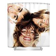 Circle Of Best Friends Shower Curtain by Michal Bednarek