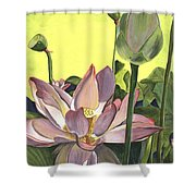 Citron Lotus 2 Shower Curtain by Debbie DeWitt