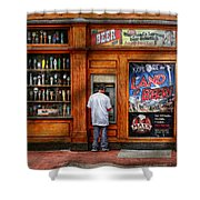 City - Baltimore Md - Explore The Land Of Beer  Shower Curtain by Mike Savad