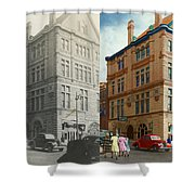 City - Chattanooga Tn - 1943 - The Masonic Temple - Both Shower Curtain by Mike Savad