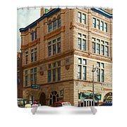 City - Chattanooga Tn - 1943 - The Masonic Temple Shower Curtain by Mike Savad