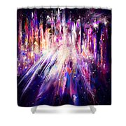 City Nights City Lights Shower Curtain by Rachel Christine Nowicki