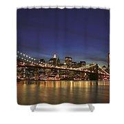 City Of Lights Shower Curtain by Evelina Kremsdorf