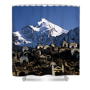 City Of The Dead Shower Curtain by James Brunker