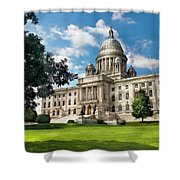 City - Providence Ri - The Capitol Shower Curtain by Mike Savad