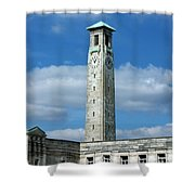 Civic Centre Southampton Shower Curtain by Terri  Waters