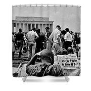 Civil Rights Occupiers Shower Curtain by Benjamin Yeager