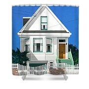 Clapperboard House Shower Curtain by David Holmes