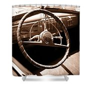 Classic Cars Shower Curtain by Edward Fielding