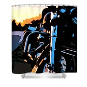 Classic Harley Shower Curtain by Michael Pickett