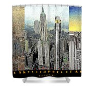 Classic Skyscrapers of America 20130428 Shower Curtain by Wingsdomain Art and Photography