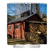 Classic Vermont Maple Sugar Shack Shower Curtain by Edward Fielding