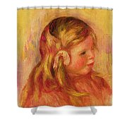 Claude Renoir Shower Curtain by Pierre Auguste Renoir