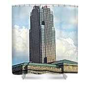 Cleveland Key Bank Building Shower Curtain by Frozen in Time Fine Art Photography