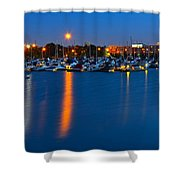 Cleveland Ohio Skyline Shower Curtain by Frozen in Time Fine Art Photography