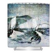 Cliffs Of Dover Shower Curtain by Lianne Schneider