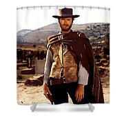 Clint Eastwood Outlaw Shower Curtain by Gianfranco Weiss