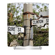 Clinton And Gore Shower Curtain by Andrew Fare