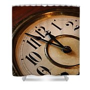 Clock Face Shower Curtain by Johan Swanepoel