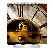 Clockmaker - What Time Is It Shower Curtain by Mike Savad