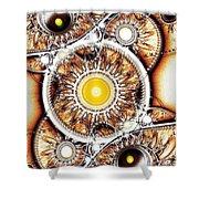 Clockwork Shower Curtain by Anastasiya Malakhova