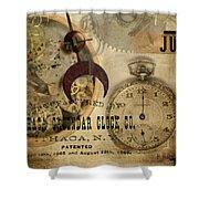Clockworks Shower Curtain by Fran Riley