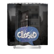 Closed Sleep Tight Shower Curtain by Scott Norris