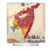 Clotilde And Alexandre Sakharoff Shower Curtain by George Barbier