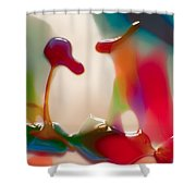 Cloud Talking Shower Curtain by Omaste Witkowski