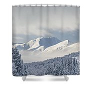 Clouds Clearing From The Kenai Shower Curtain by Kevin Smith