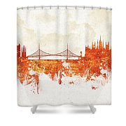 Clouds Over Budapest Hungary Shower Curtain by Aged Pixel