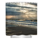 Cloudy Sunrise Shower Curtain by Michael Thomas