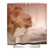 Coastal Steam Plume At Kilauea Volcano Shower Curtain by Stephen & Donna O'Meara