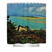 Coastal Storm Shower Curtain by Benjamin Yeager