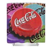Coca-cola Cap Shower Curtain by Tony Rubino
