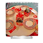Coca-cola Diner  Shower Curtain by Chris Berry