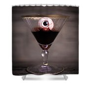 Cocktail For Dracula Shower Curtain by Edward Fielding
