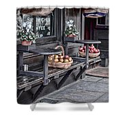 Coffe Shop Cafe Shower Curtain by Heather Applegate