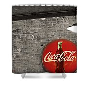 Coke Cola Sign Shower Curtain by Paulette B Wright