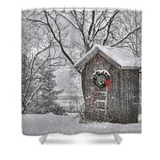 Cold Seat Shower Curtain by Lori Deiter