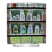 Collector - Bottles - Milk Bottles  Shower Curtain by Mike Savad