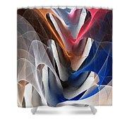 Color Fold Shower Curtain by Anastasiya Malakhova